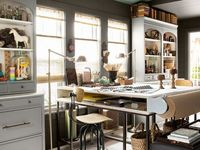 My Office on Pinterest | Command Centers, Libraries and Home Office