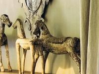 Horses: Wood, toy, iron, decorative