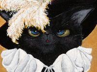 Cat - Illustration, painting, drawing....
