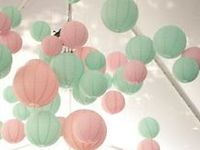 Mint green and pink wedding ideas