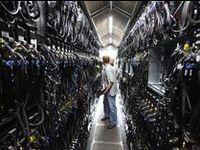 The inner workings of a data center.