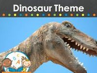 Dinosaur learning activities, crafts, ideas, printables and resources for young children in your preschool, pre-k, or kindergarten classroom. Visit me at www.pre-kpages.com for more inspiration for early education!