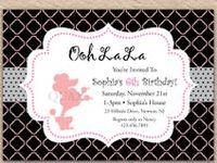 Birthday Invitations / Custom designed and personalized invitations.