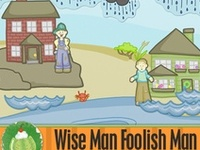 The wise and the foolish man bible ideas