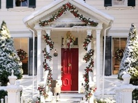About christmas outdoors on pinterest outdoor christmas front doors