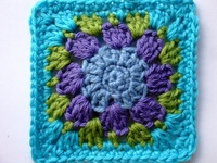 About knit purl crochet on pinterest granny square tutorial free