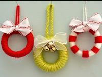 Ornaments / Wide range of ornaments, made of ribbon, wine corks, pine cones, seashells, beads, buttons and more!