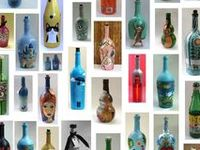 Botella pintadas o decoradas