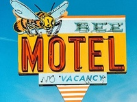 Signs for ............ motels