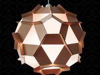 Luminaires, Lights (cardboard, paper) / Design, créativité, imagination, poésie; De toutes les formes mais un point commun : le carton ou le papier
