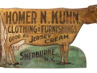 Antique trade signs