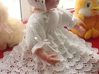 Crocheting beautiful gowns and dresses for dolls to please little and big girls!