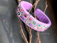 bracelets / cuffs (pc) / #polymerclay #bracelets #bangles #cuff