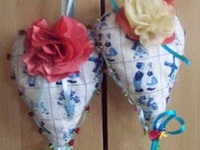 Beautiful fabric hearts  and more ....