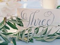 Wedding table names and numbers