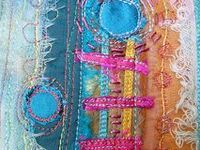 I love threads and fabrics and colors!