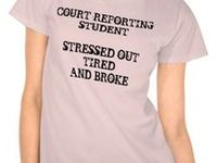 Court reporting student