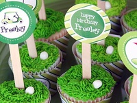 Golf party inspiration! • Blog posts:www.bitly.com/golf_parties • Products: http://www.chickabug.com/shop-by-theme/golf-party