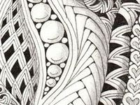 Zentangles, Tangles and Zentangle-inspired designs.