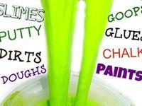 recettes de peintures, pâte à modelée, slime ... et techniques artistiques pour enfants et autres