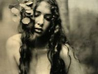 Kristen Hatgi is a Denver-based visual artist with a knack for creating spooky and sensual photos, using a wet plate (collodion) process in her backyard. Hatgi and her husband Mark Sink use this nineteenth century process (though incredibly inconvenient, tedious and unpredictable) to show work with microscopic detail and a haunting modern-meets-ancestral feel.