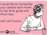 Bunco party ideas/food