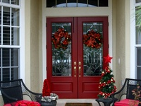 Christmas front doors on pinterest christmas front doors front