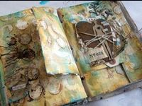 Mixed media ideas for art journal pages and canvases.