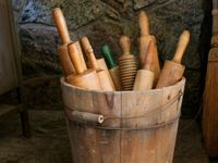 Old, antique rolling pins...