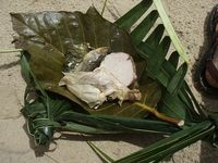 Aluminium paper is a modern substitute for banana leaves and others leaves