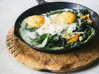 ... Breakfast on Pinterest | Polenta recipes, Huevos rancheros and Spinach