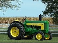 """Tractors:  a powerful motor vehicle with large rear wheels used mainly for hauling, planting, and reaping crops.  First recorded use of the word occurred in 1901, replacing the earlier term, """"traction engine""""."""""""