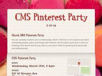 CMS Pinterest Party on Pinterest