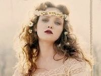 #Bohemian #Boho #Hippie #70's #Gypsy #Lace  #Flower-crowns #outdoor wedding, Dresses, Hair, Headpieces, Veils, Make-up, Nails, Shoes, Bouquets