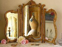 Boudoir/ Vanity accessories / mirrors/  (see also perfume bottles)