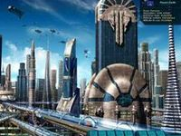 A collection of futuristic city concepts and designs.