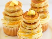 Pancake, Cereal, Donut, French Toast, Bacon cupcakes