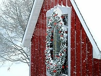 Holiday Christmas Decorating outside