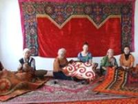 felting history,myths and legends / ABOUT THE FELT CARPETS Felt is an irreplaceable thing in Kyrgyz people's life, as it protects from cold, rain, wind, sun, wet, dampness. From the earliest times an integral part of decoration of Kyrgyz house was felt carpet shirdak, which adds special coziness, joy, festivity to interior. Nowadays shirdak is still popular, it is widely used in living both in city and village.