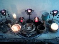 My main board, for pictures of all kinds of altars and shrines I find inspirational, Pagan and otherwise.