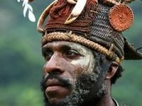 People from Papua New Guinea. Oceania,
