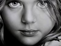 Drawings that are created with pencil, pen, ink, crayon and/or watercolor that are photo-realistic, emotional, or basic line.  The drawings chosen reflect my personal interest in human expression. Drawing is my passion; it is in my heart.  Enjoy, and pin away!  I won't block anyone...  :-)