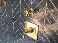 Great designs in stone, tile and wood. Also known as chevrons or zig zags.