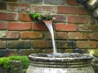 water features and fountains in private gardens and parks