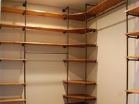 1000 images about black iron furniture shelving on for Iron closet storage