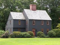 Salt box houses and colonial homes