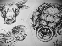 <<TATTOO SKETCHES>>