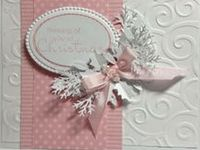 handmade christmas cards, christmas cards with die cuts, copic coloured christmas cards, shabby-chic christmas cards, simple christmas cards