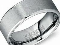 CROWN RING--Gents Tungsten Rings / Durability at it's finest!!! Tungsten is an incredibly hard, grey coloured metal that is resistant to scratches and dents.  The finish will remain unchanged for the entire life of the ring.