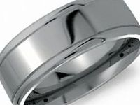 CROWN RING -- Gents Titanium Rings / A Titanium design provides it's owner with a lightweight ring that can endure all forms of daily wear.  Titanium is a shatterproof, hypoallergenic metal that is resitant to corrosion.  The silver-gray metal provides powerful durability and countless style options that range from classic to contemporary.